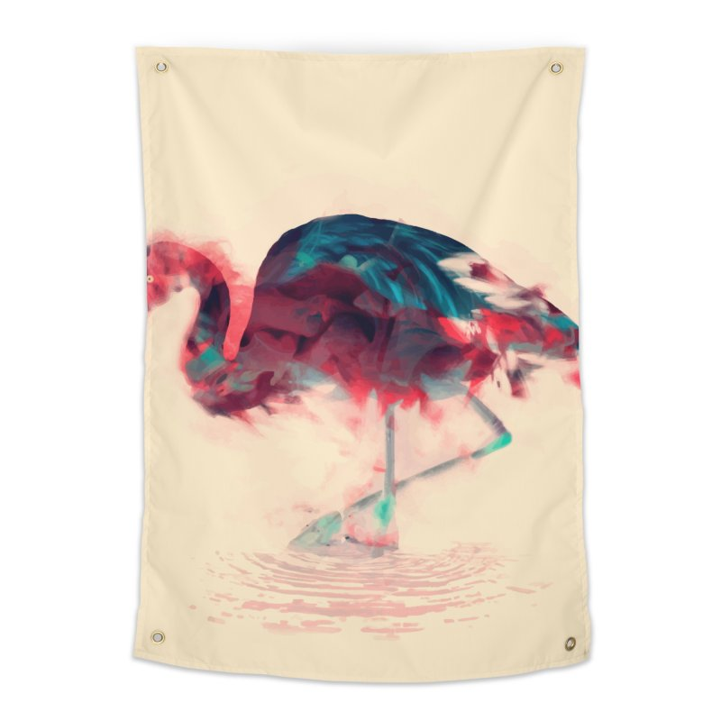 Born Flamingo Home Tapestry by daniac's Artist Shop