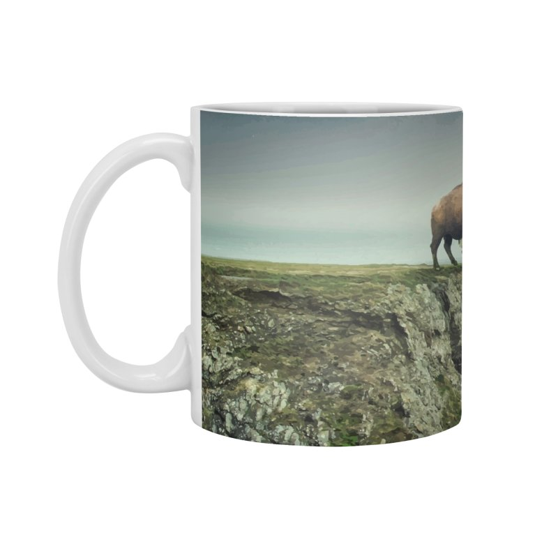 Lonely Buffalo Accessories Mug by daniac's Artist Shop