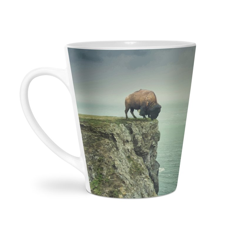 Lonely Buffalo Accessories Latte Mug by daniac's Artist Shop