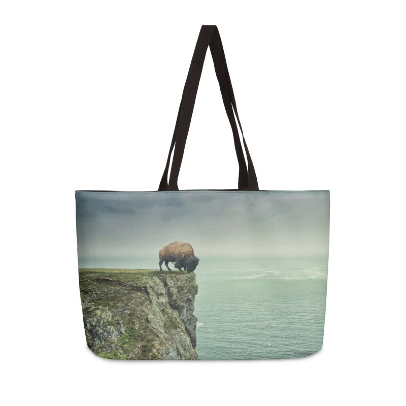 Lonely Buffalo Accessories Weekender Bag Bag by daniac's Artist Shop