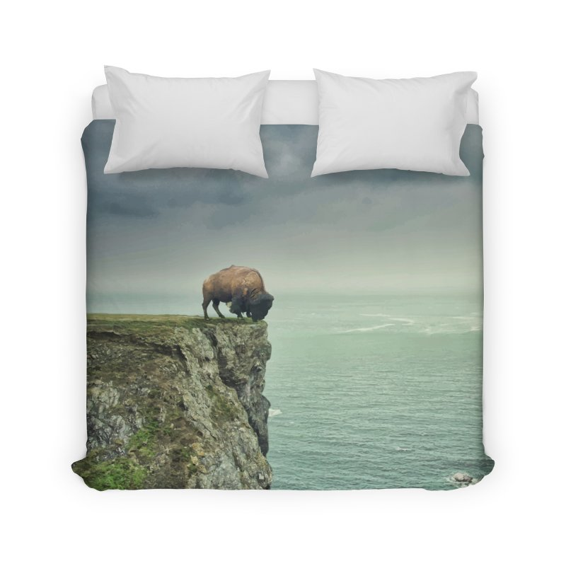 Lonely Buffalo Home Duvet by daniac's Artist Shop