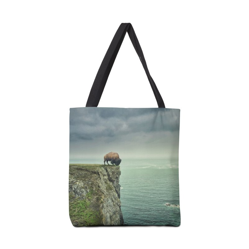 Lonely Buffalo Accessories Tote Bag Bag by daniac's Artist Shop