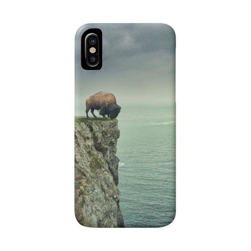 Lonely Buffalo Accessories Phone Case by daniac's Artist Shop