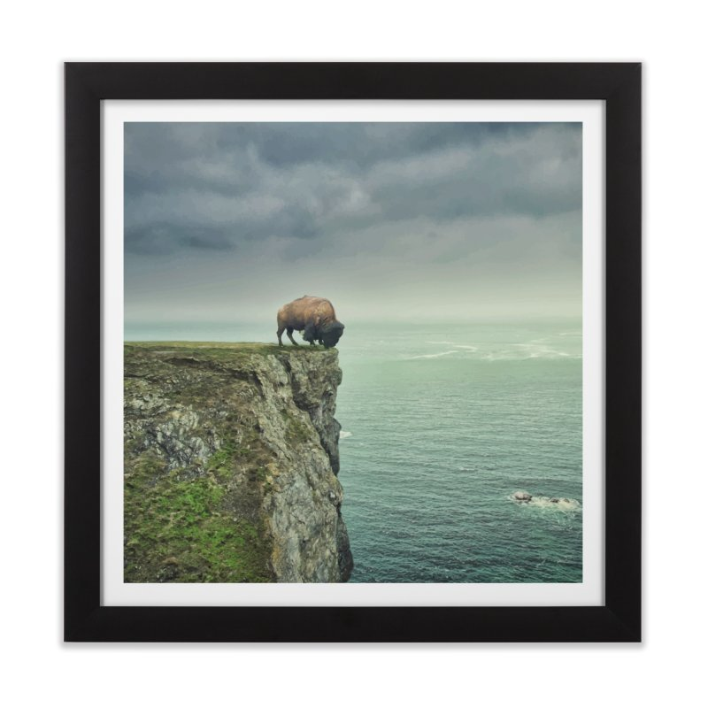 Lonely Buffalo Home Framed Fine Art Print by daniac's Artist Shop