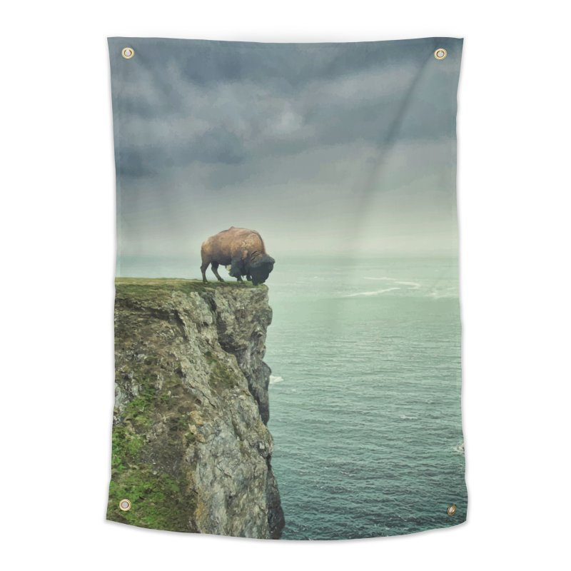 Lonely Buffalo Home Tapestry by daniac's Artist Shop