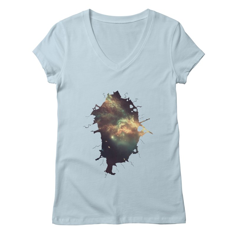 Into Space Women's Regular V-Neck by daniac's Artist Shop
