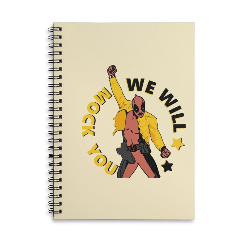 We will mock you Accessories Lined Spiral Notebook by daniac's Artist Shop