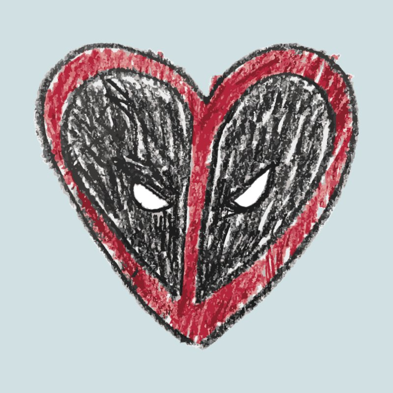 deadpool heart Home Stretched Canvas by daniac's Artist Shop