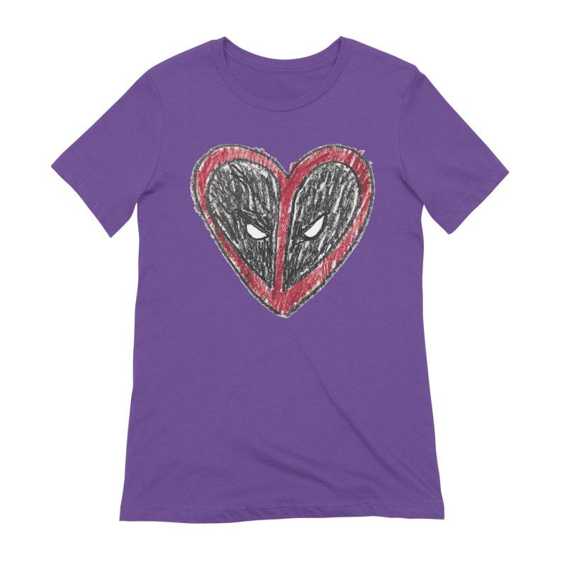 deadpool heart Women's Extra Soft T-Shirt by daniac's Artist Shop