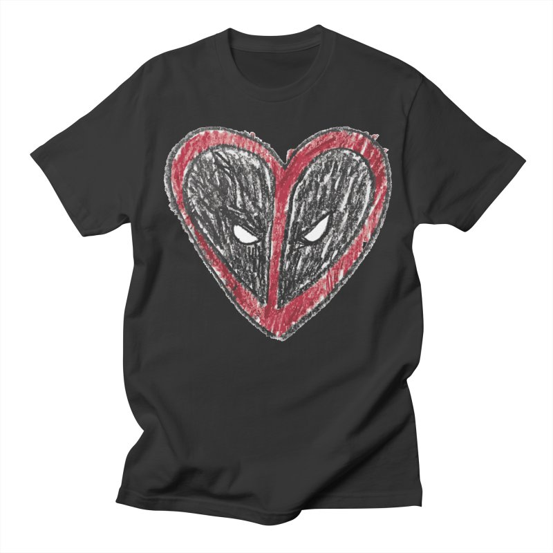 deadpool heart Women's Regular Unisex T-Shirt by daniac's Artist Shop