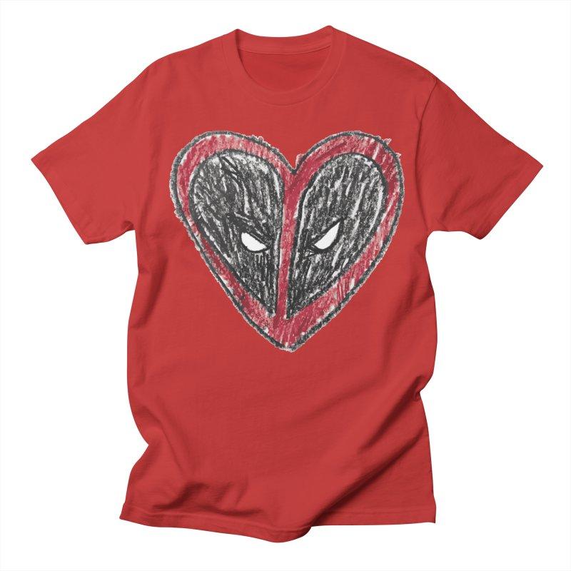 deadpool heart Women's Regular Unisex T-Shirt by daniac's Artist Shop