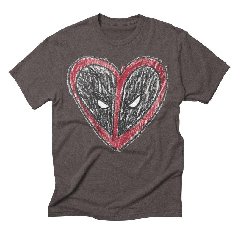 deadpool heart Men's Triblend T-Shirt by daniac's Artist Shop