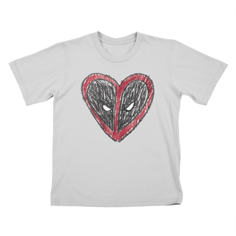 deadpool heart Kids T-Shirt by daniac's Artist Shop