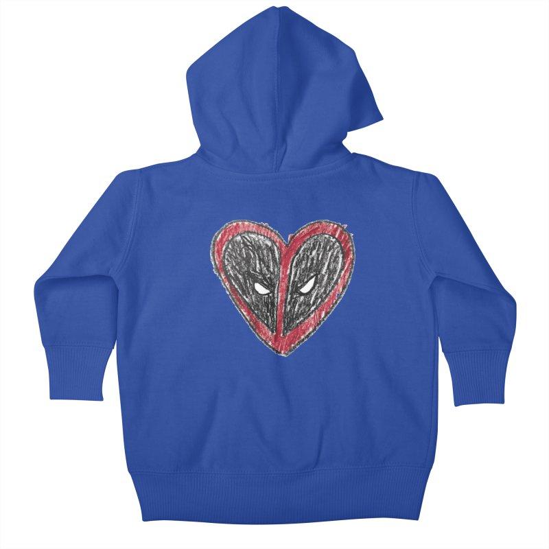 deadpool heart Kids Baby Zip-Up Hoody by daniac's Artist Shop