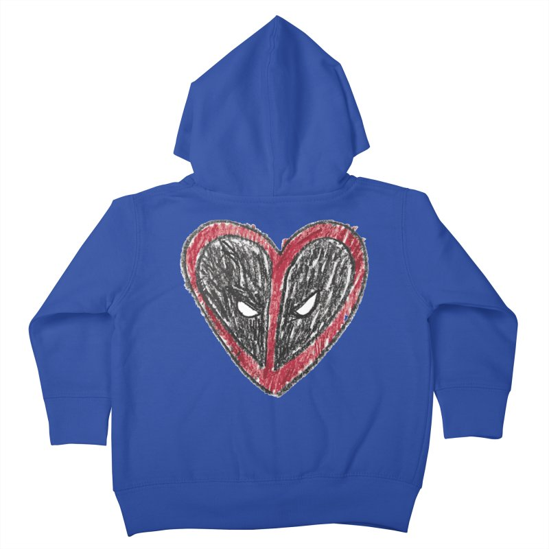 deadpool heart Kids Toddler Zip-Up Hoody by daniac's Artist Shop
