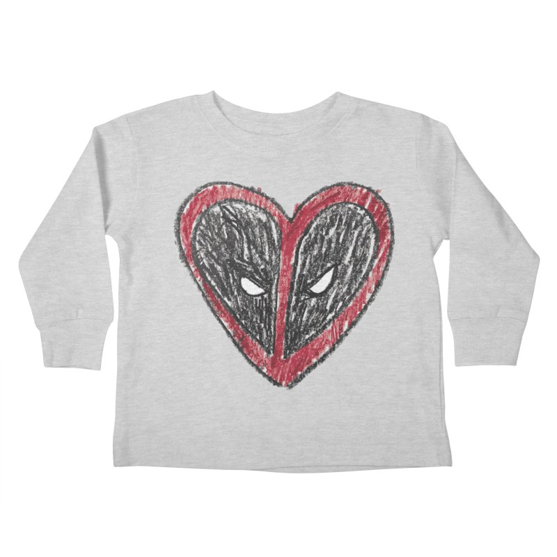 deadpool heart Kids Toddler Longsleeve T-Shirt by daniac's Artist Shop