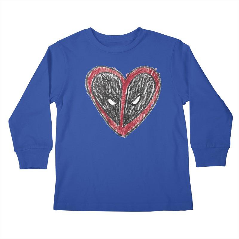 deadpool heart Kids Longsleeve T-Shirt by daniac's Artist Shop