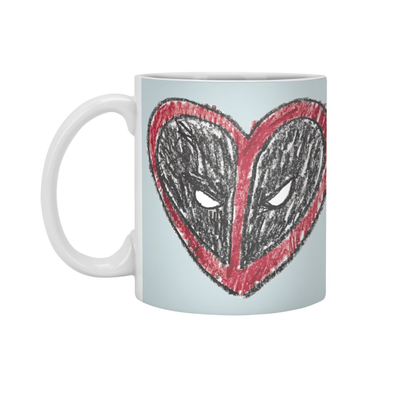deadpool heart Accessories Standard Mug by daniac's Artist Shop