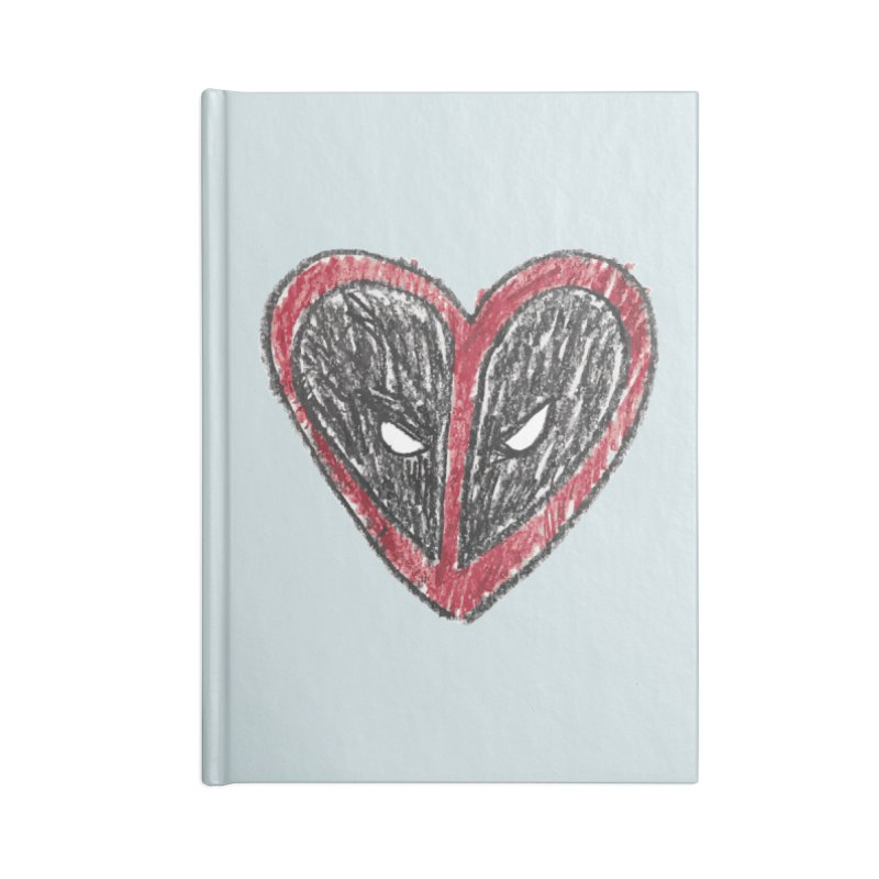 deadpool heart Accessories Lined Journal Notebook by daniac's Artist Shop
