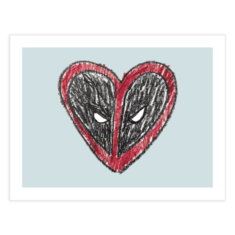 deadpool heart Home Fine Art Print by daniac's Artist Shop
