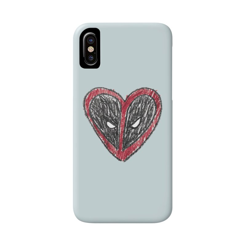 deadpool heart Accessories Phone Case by daniac's Artist Shop