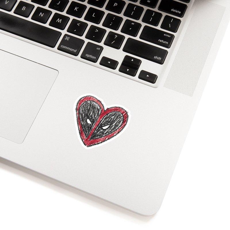 deadpool heart Accessories Sticker by daniac's Artist Shop