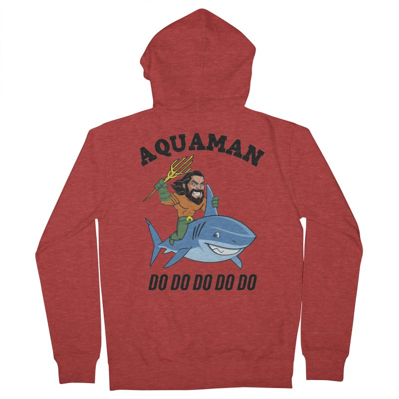 Aquaman do do do Men's French Terry Zip-Up Hoody by daniac's Artist Shop