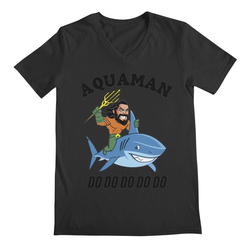 Aquaman do do do Men's Regular V-Neck by daniac's Artist Shop