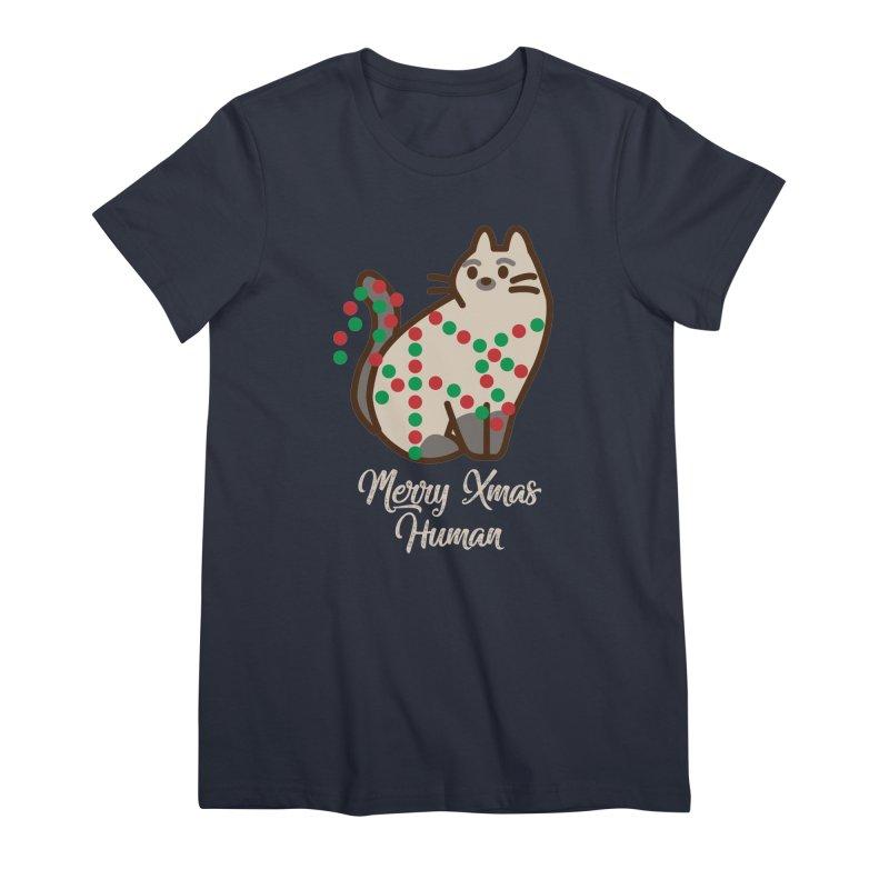 Merry xmas human Women's Premium T-Shirt by daniac's Artist Shop