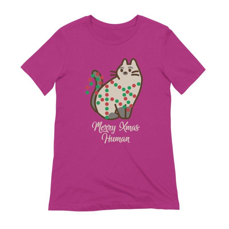 Merry xmas human Women's Extra Soft T-Shirt by daniac's Artist Shop