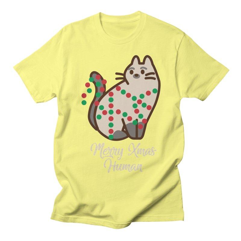 Merry xmas human Women's Regular Unisex T-Shirt by daniac's Artist Shop