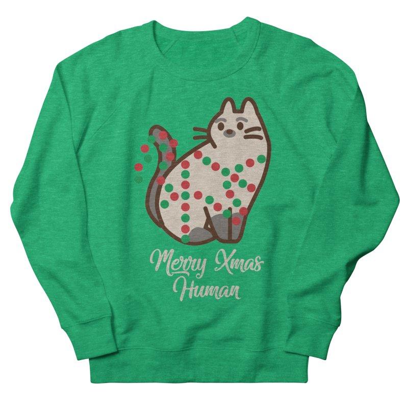Merry xmas human Men's French Terry Sweatshirt by daniac's Artist Shop