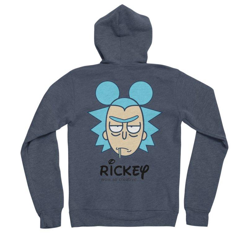 Rickey Sanchez Men's Sponge Fleece Zip-Up Hoody by daniac's Artist Shop