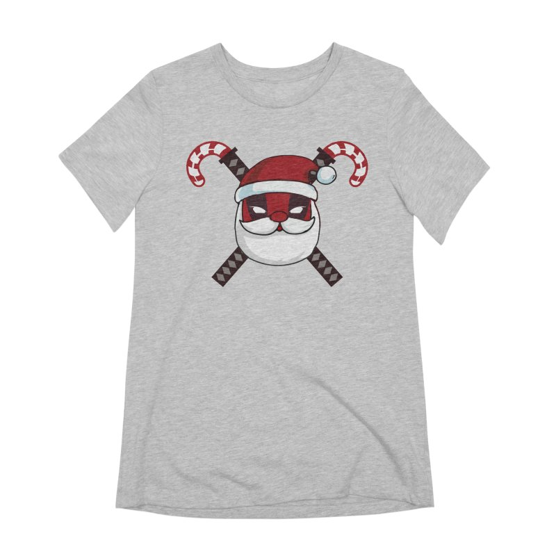 Deadpool Claus Women's Extra Soft T-Shirt by daniac's Artist Shop