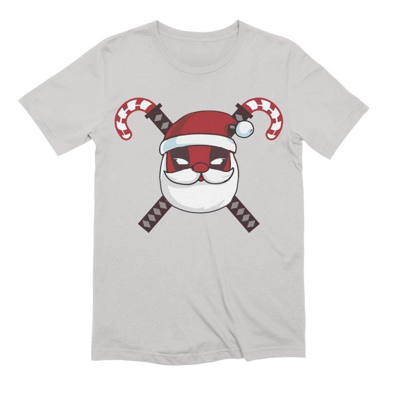 Deadpool Claus Men's Extra Soft T-Shirt by daniac's Artist Shop