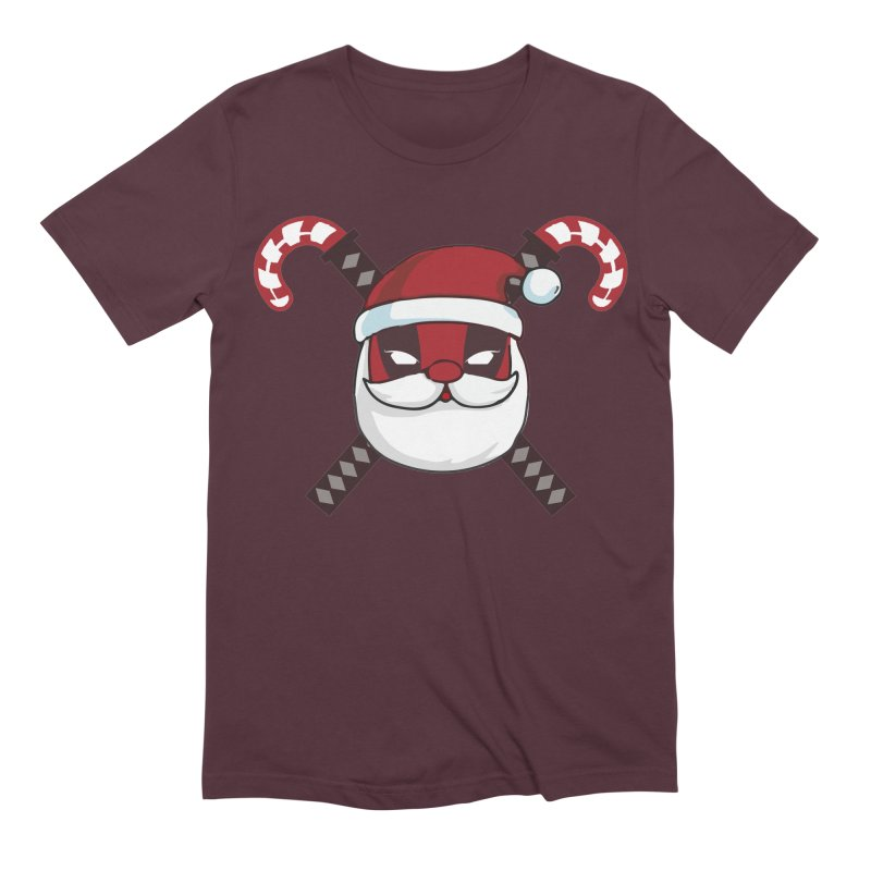 Deadpool Claus Men's Extra Soft T-Shirt by daniac's Artist Shop