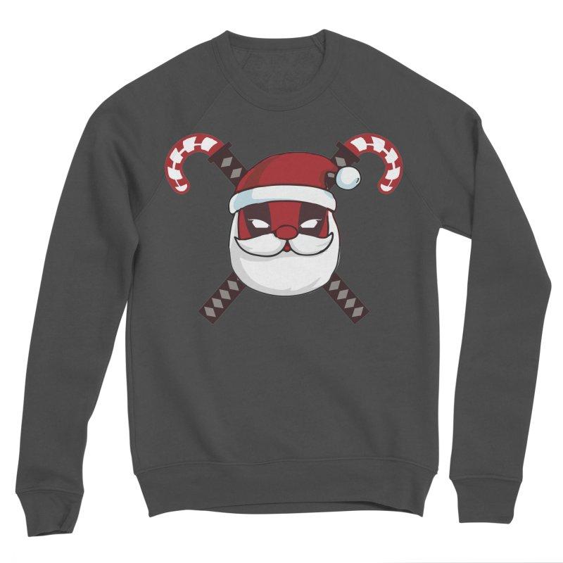 Deadpool Claus Men's Sponge Fleece Sweatshirt by daniac's Artist Shop