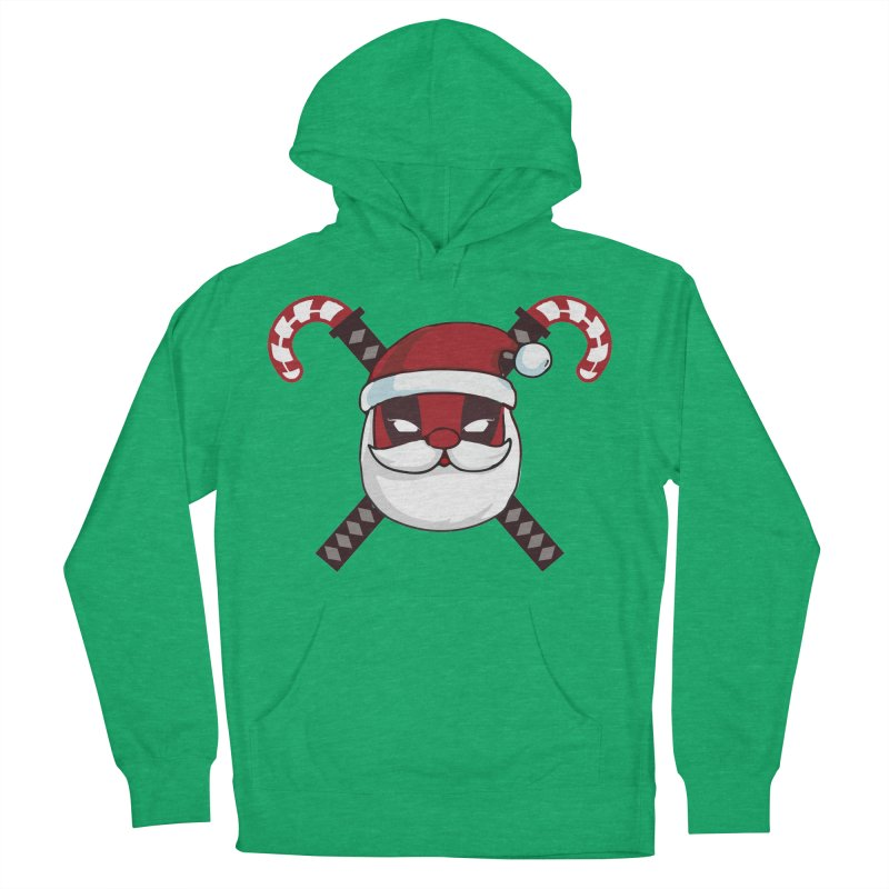 Deadpool Claus Women's French Terry Pullover Hoody by daniac's Artist Shop