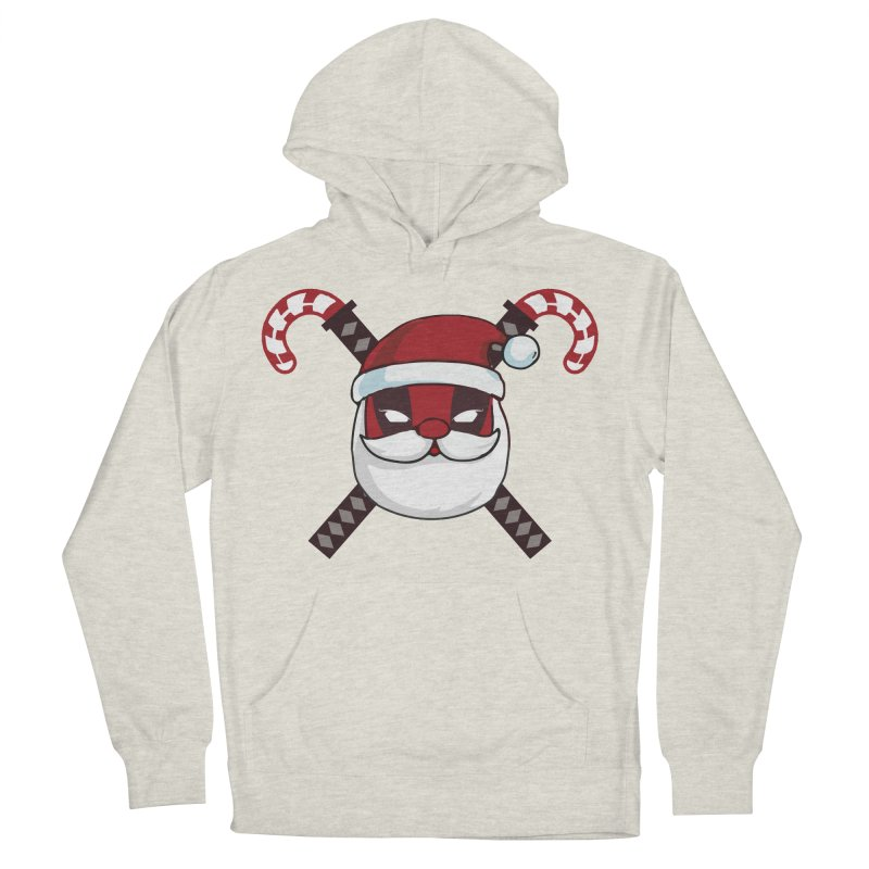 Deadpool Claus Men's French Terry Pullover Hoody by daniac's Artist Shop