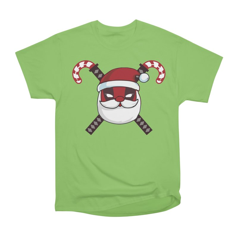 Deadpool Claus Men's Heavyweight T-Shirt by daniac's Artist Shop