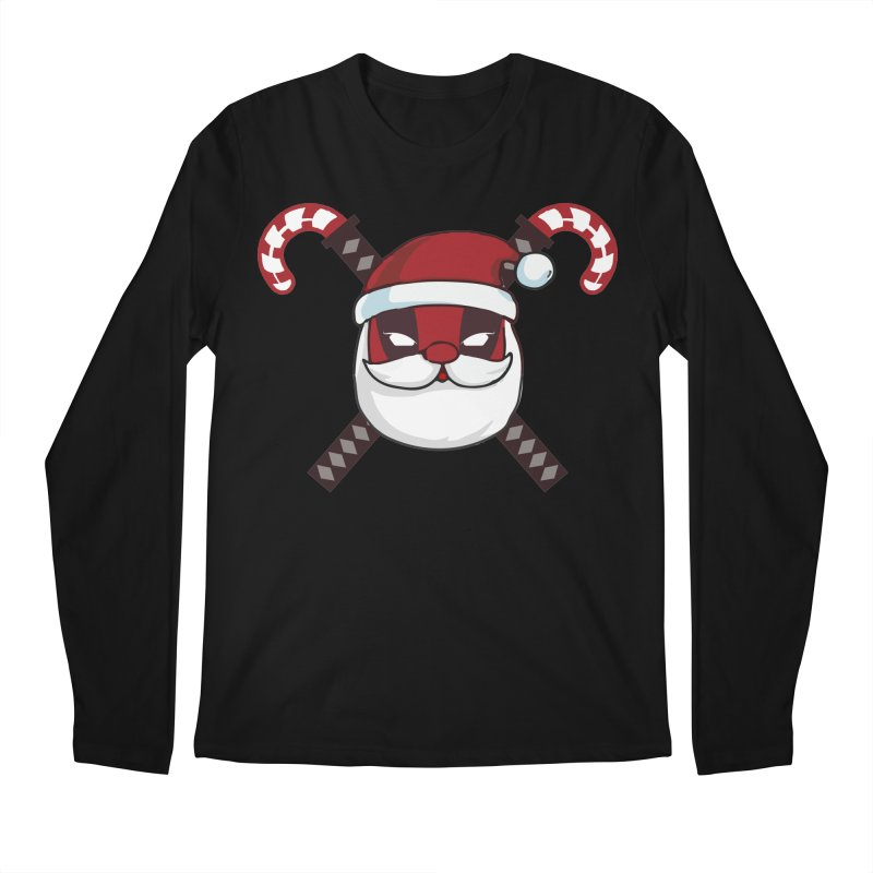 Deadpool Claus Men's Regular Longsleeve T-Shirt by daniac's Artist Shop
