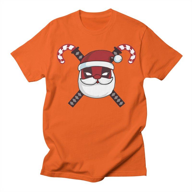 Deadpool Claus Men's Regular T-Shirt by daniac's Artist Shop