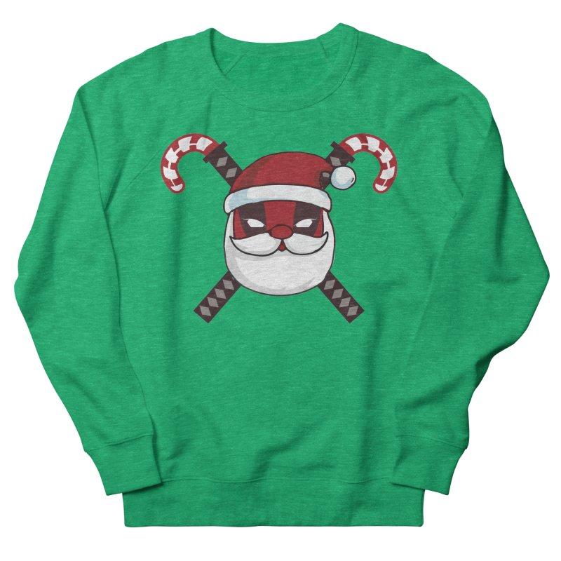 Deadpool Claus Women's French Terry Sweatshirt by daniac's Artist Shop