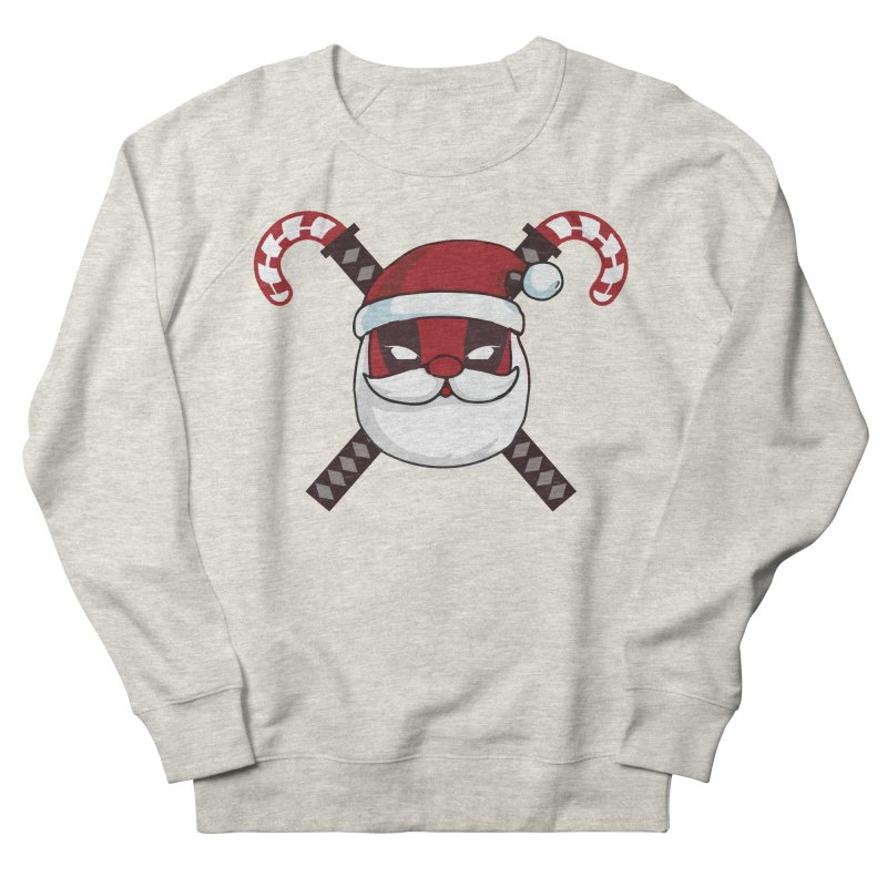 Deadpool Claus Men's French Terry Sweatshirt by daniac's Artist Shop