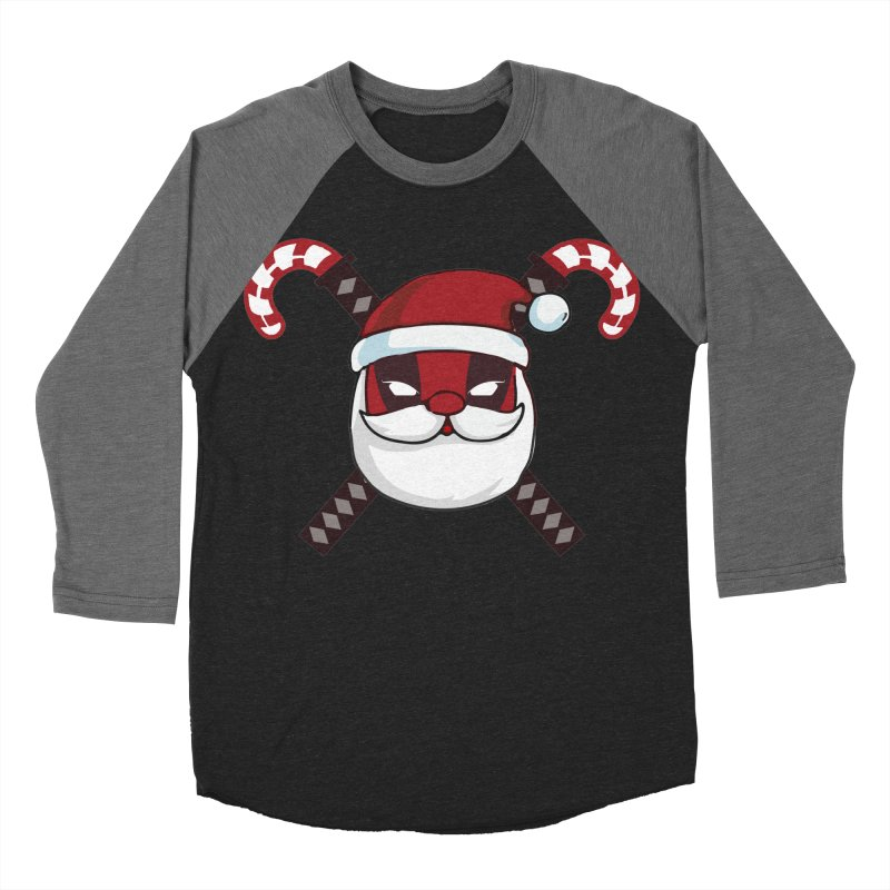 Deadpool Claus Women's Baseball Triblend Longsleeve T-Shirt by daniac's Artist Shop