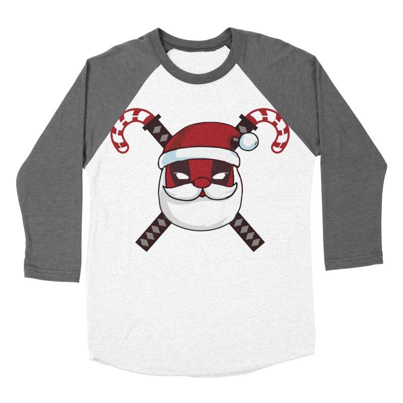 Deadpool Claus Men's Baseball Triblend Longsleeve T-Shirt by daniac's Artist Shop