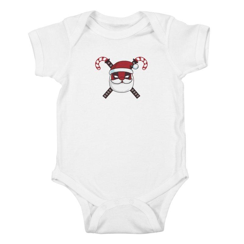 Deadpool Claus Kids Baby Bodysuit by daniac's Artist Shop