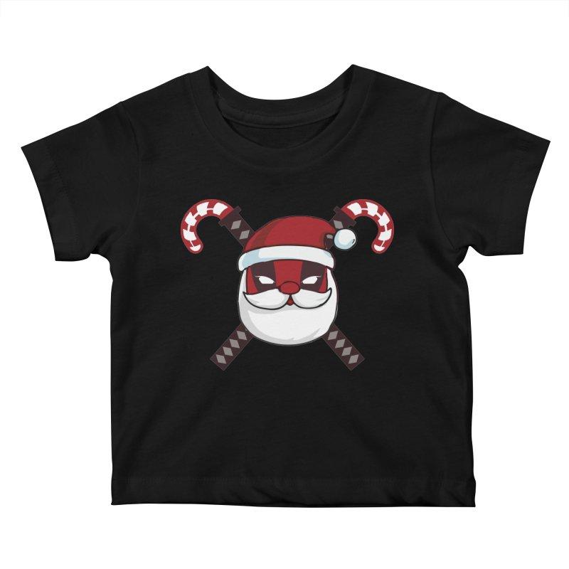 Deadpool Claus Kids Baby T-Shirt by daniac's Artist Shop