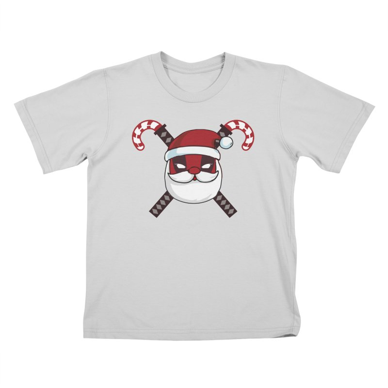 Deadpool Claus Kids T-Shirt by daniac's Artist Shop