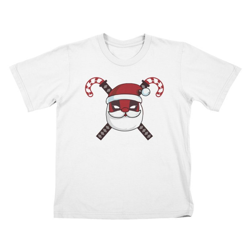 Deadpool Claus Kids T-Shirt by daniac's Artist Shop
